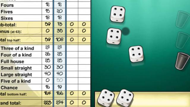 5 Dice Free Online Games At Agamecom