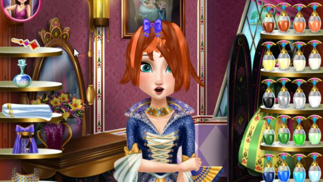 Anna Frozen Real Haircuts Play The Girl Game Online