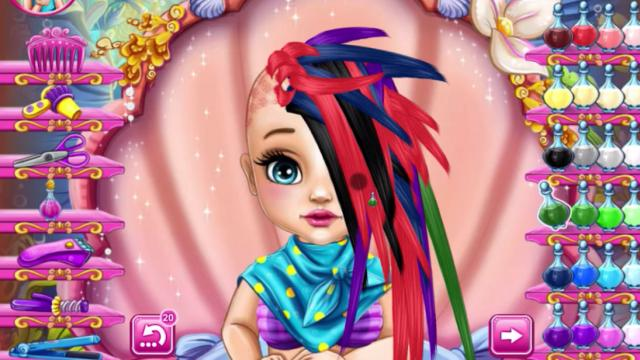 Baby Ariel Real Haircuts Play The Girl Game Online