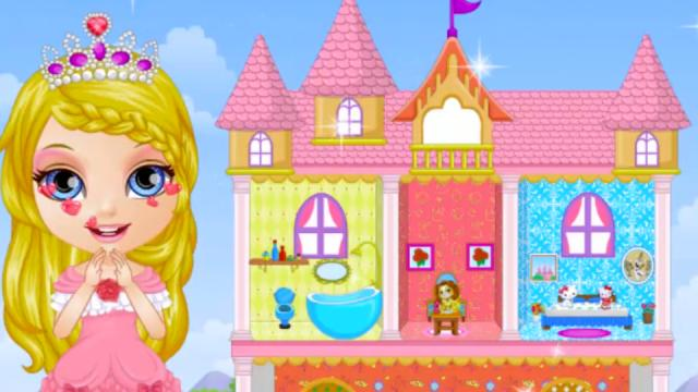 baby barbie princess dollhouse play the girl game online