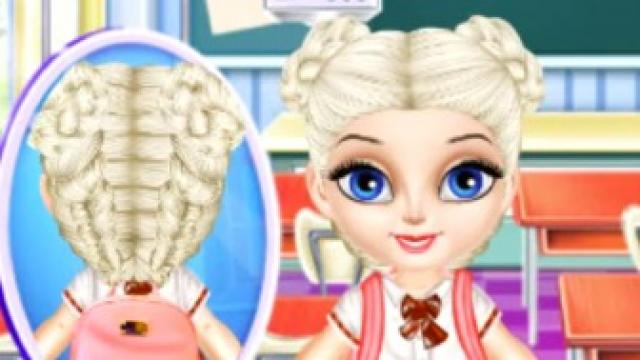 Baby Elsa School Haircuts Play The Girl Game Online