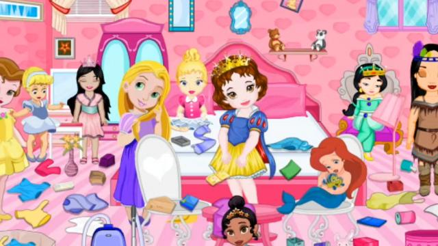 baby princess room cleaning play the girl game online - Baby Room Cleaning Games