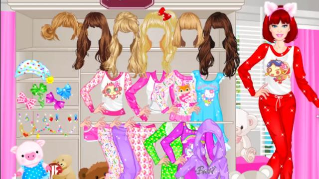 vesti barbie per il pigiama party online gioca gratis su poki