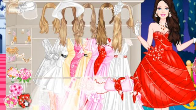 Red dress up games