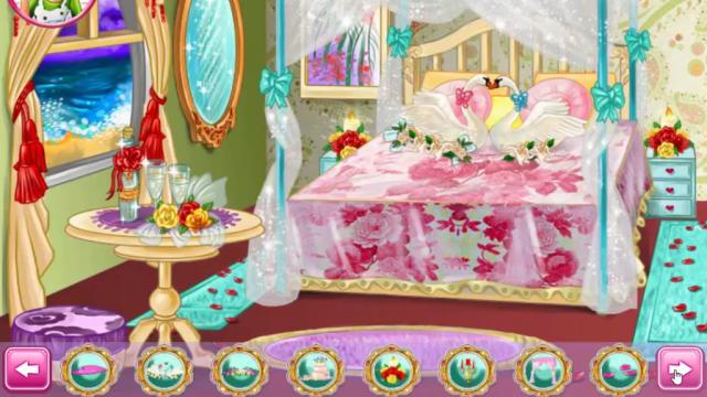 barbie wedding room play the girl game online - Barbie Room Decoration Games