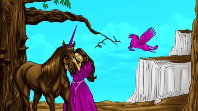 Colorea Al Unicornio Juega A Juegos En Linea Gratis En Juegos Com