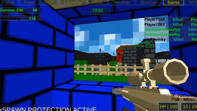 3d pixel gun crazy games