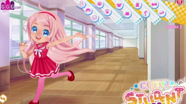 Cute Student Dress Up - GOBOplay: Free Online Mobile & Tablet Games