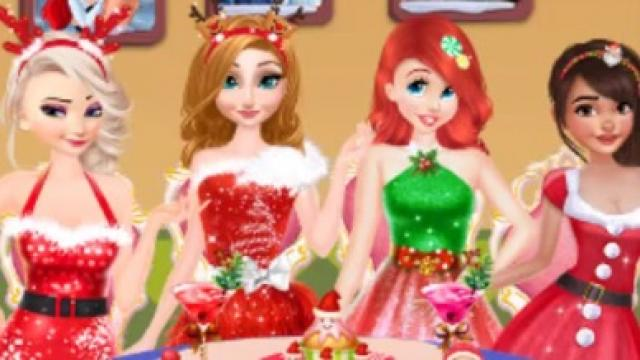 disney princesses christmas dinner play the girl game online