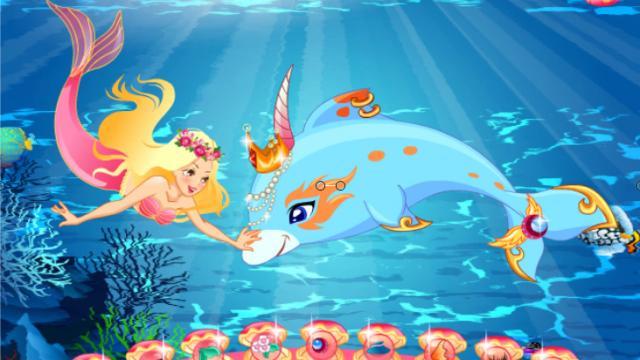 Il Delfino E La Sirena Un Gioco Gratis Per Ragazze Su Girlsgogames It