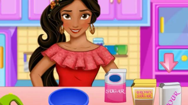 Elena Of Avalor Cooking Cake