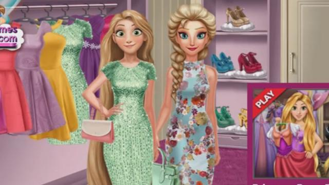 Elsa And Rapunzel Dressing Room - Play The Girl Game Online