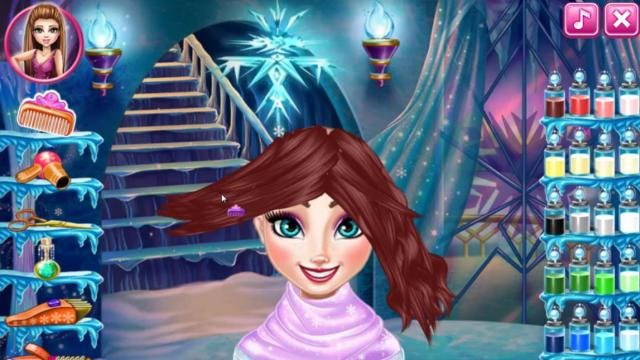 Elsa Frozen Real Haircuts Play The Girl Game Online