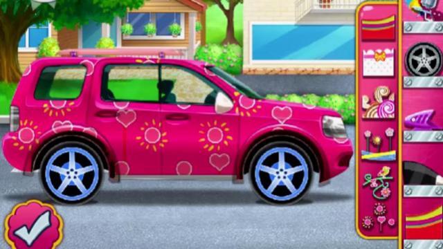 elsas fancy car play the girl game online
