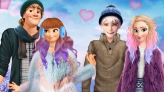parejas en la nieve: cita de invierno - juega a juegos en línea