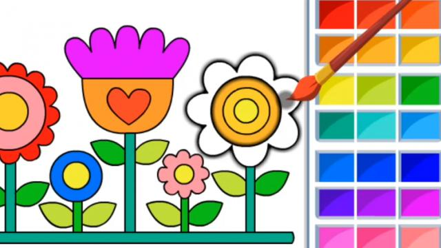Html5 Coloring Book Kids Play The Girl Game Online
