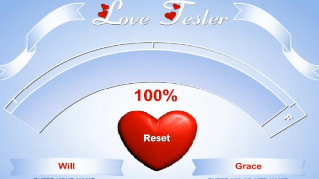 how to get 100 on friv love test