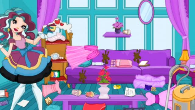 Cleaning Messy Room madeline hatter messy room cleaning - play the girl game online