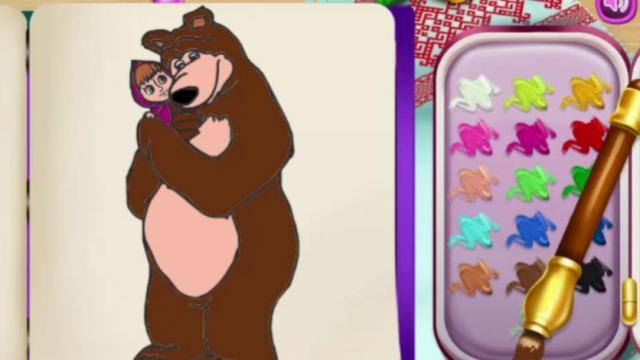 Html5 Coloring Book Masha And The Bear Play Girl Game Online