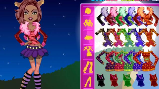 Monster High Baby Clawdeen Wolf Dress Up Games GaheCom Play - Monster high dress up games spectra hairstyle