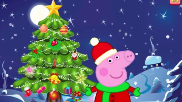 peppa pig christmas tree decoration play the girl game online