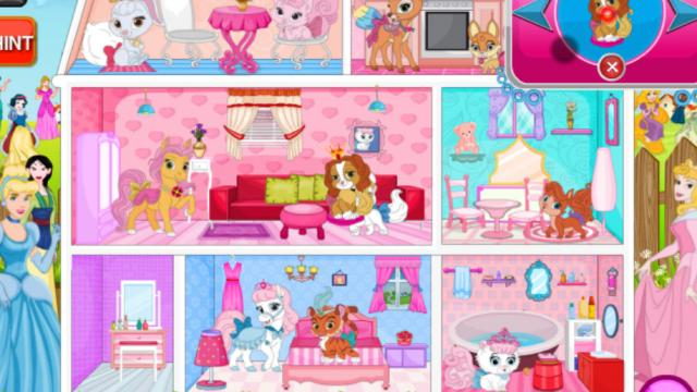 Princess Pets Doll House Decor