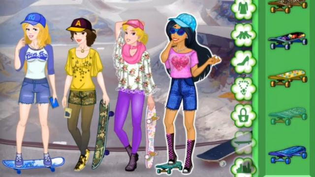 princess skateboard | juegos en linea - 7juegos.es