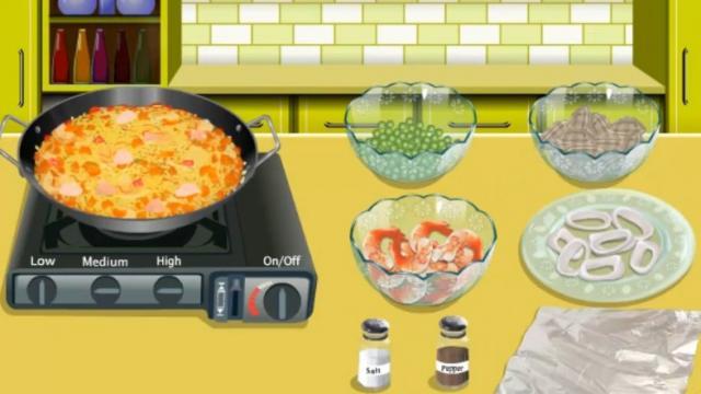 Cocina Con Sara Paella Un Juego Gratis Para Chicas En
