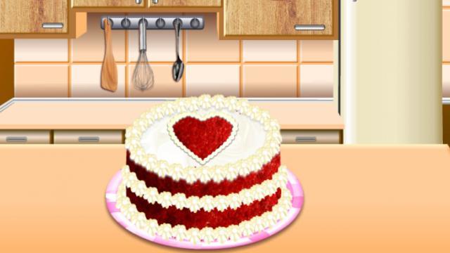 Cocina Con Sara Pastel Terciopelo Rojo Un Juego Gratis Para