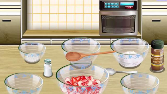 Perfect jeu ecole de cuisine de sara tarte rhubarbe et - Sara la cuisine jeu de fille ...