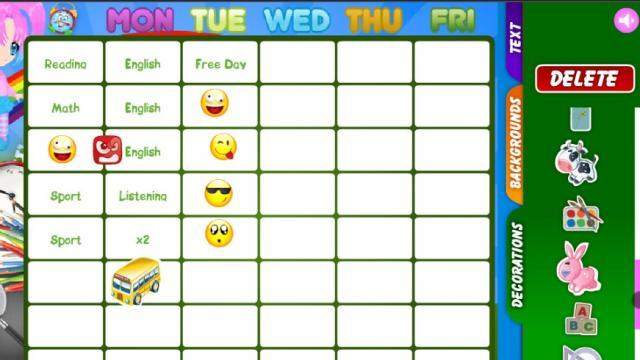 school timetable maker play free online fun games on obfog com