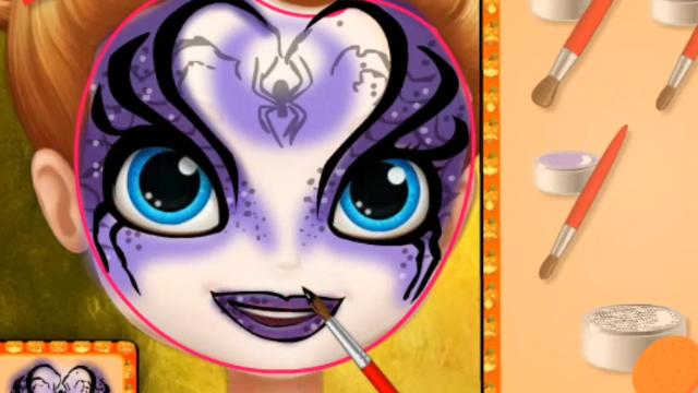 sofia halloween face art play the girl game online