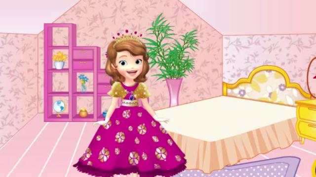 Sofia The First Bedroom Decor Game Play Online