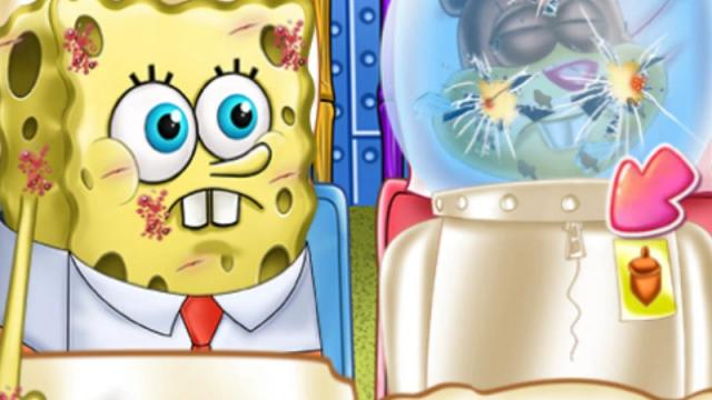spongebob and sandy first aid play the girl game online