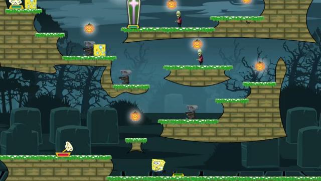 spongebob halloween adventure 2 best free online games at somegamesorg - Spongebob Halloween Game
