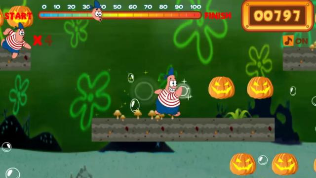 spongebob halloween under sea play best free game on gamefreela - Spongebob Halloween Game