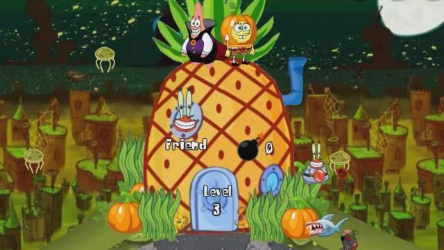 spongebob halloween defense play the girl game online - Spongebob Halloween Game
