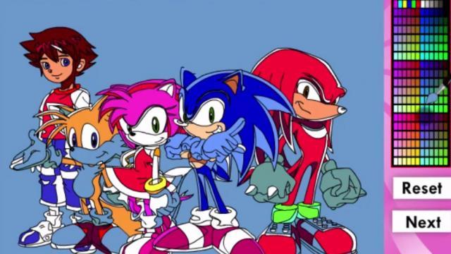Super Sonic Coloring Game - Sonic Games - GamesFreak