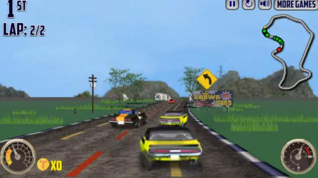 V8 Muscle Cars Free Online Games At Agame Com