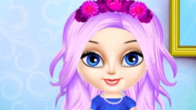 Baby Elsa Hairstyle Design Play Baby Elsa Hairstyle Design Online