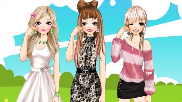 juegos de tres amigas en verano
