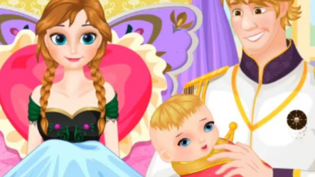 Frozen Anna Baby Birth Free Mobile Game Online Yiv