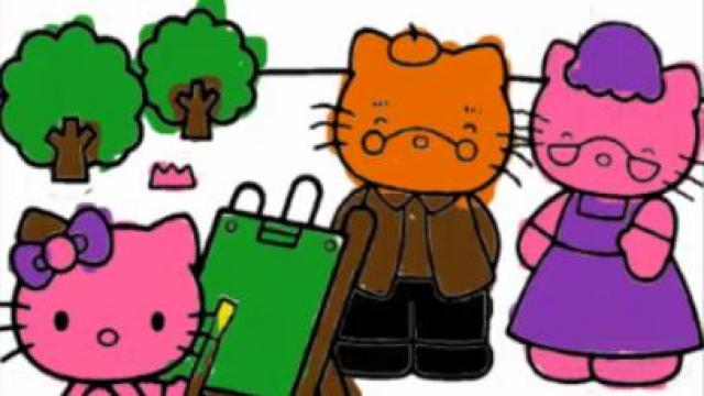 hello kitty coloring book free mobile game online yivcom - Hello Kitty Coloring Book