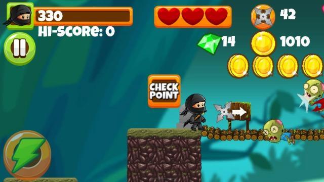 ninja kid vs zombies free mobile game online
