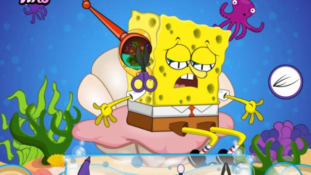 spongebob ear surgery free mobile game online